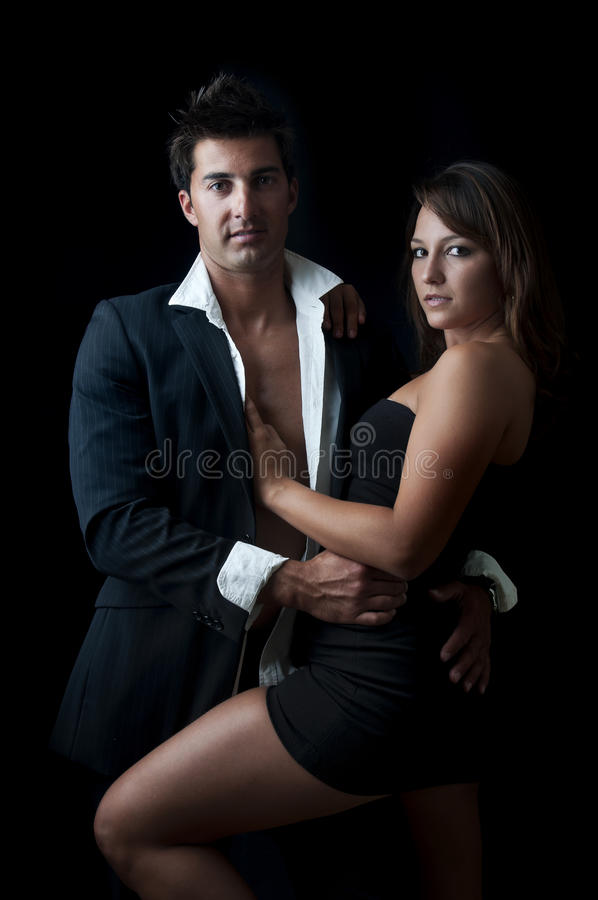 Fashion couple royalty free stock photos
