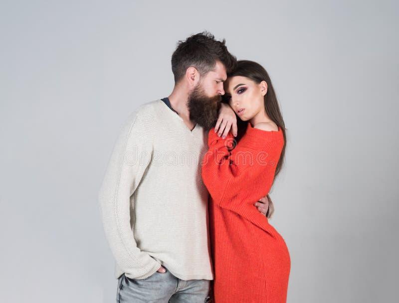 Fashion couple. fashion couple of stylish man and woman. young and free. fashion couple of bearded hipster and girl stock image