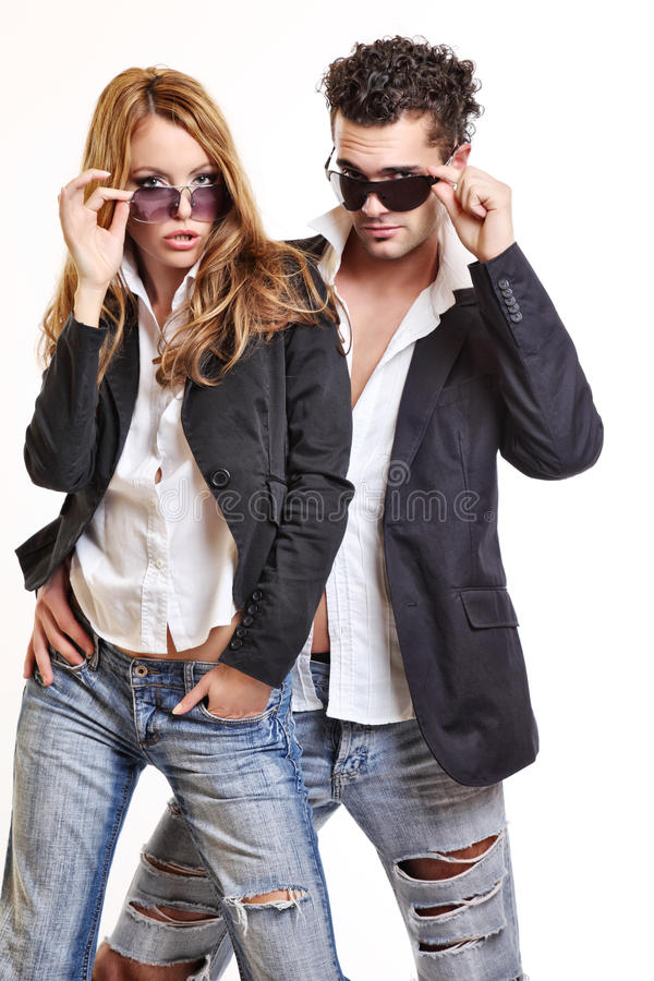 Download Fashion Couple With Sunglasses Stock Photo - Image: 16831804