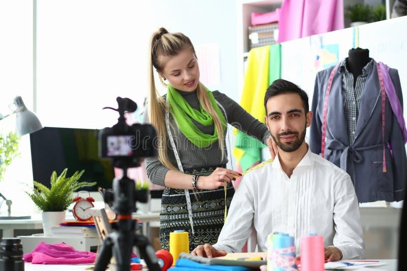 Fashion Creation Internet Blog Recording Concept stock photos