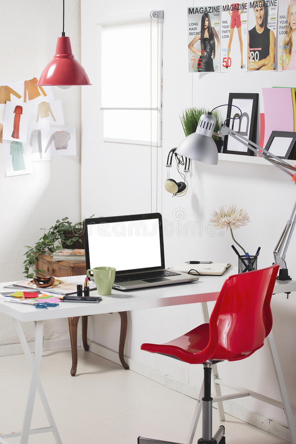 Download A fashion creative space. stock photo. Image of laptop - 34467548