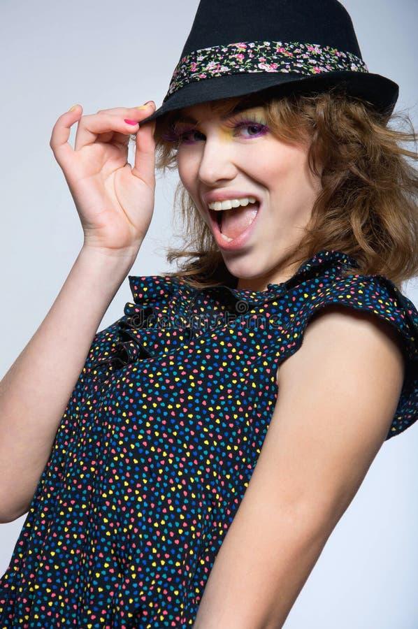 Download Fashion Cute Girl Wearing Hat Stock Photo - Image: 29044116