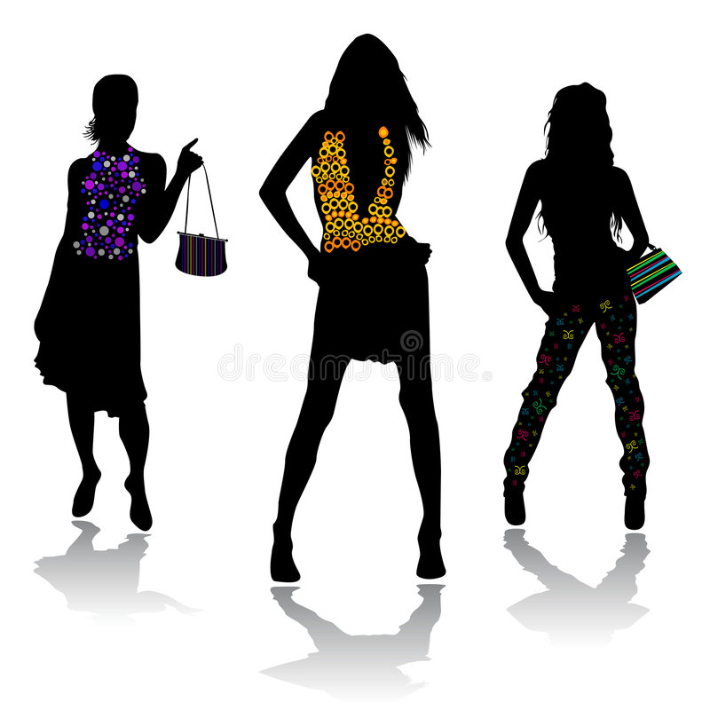 fashion design 1 stock illustration