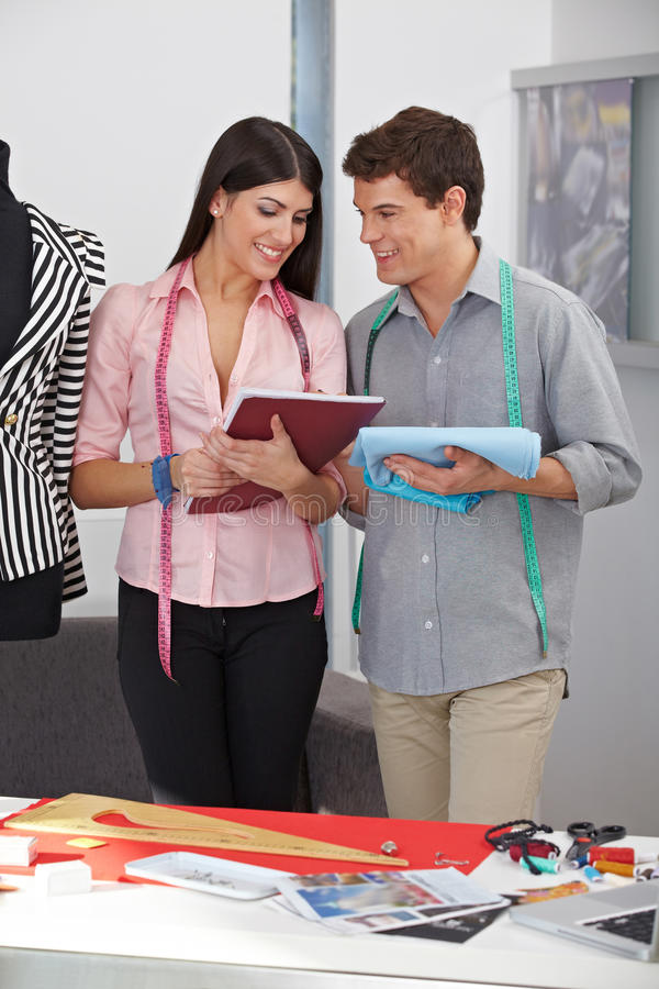 Download Fashion Designer With Assistant Stock Photo - Image: 26868134