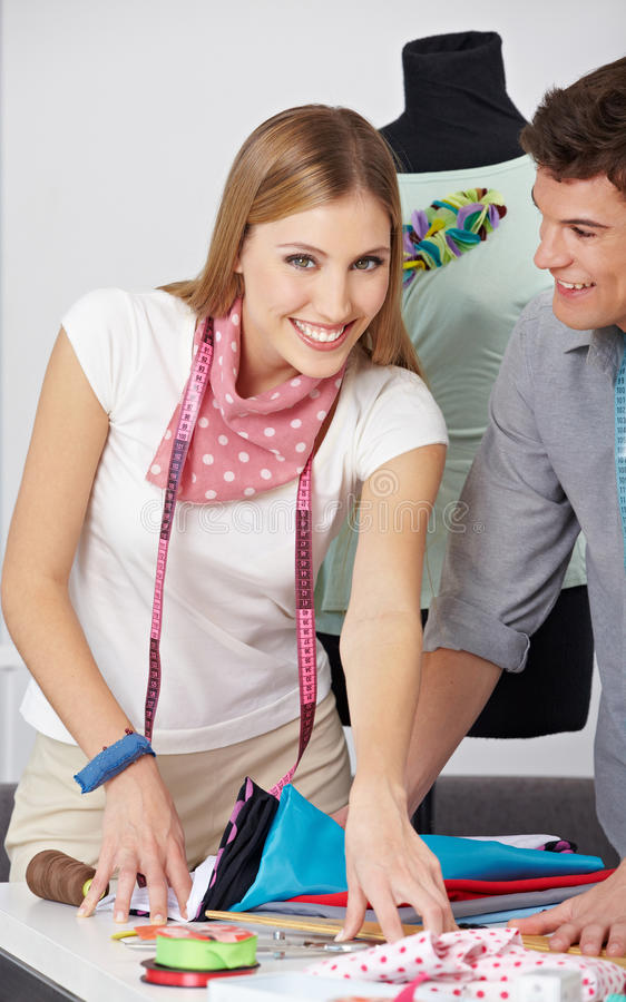 Download Fashion Designer With Assistant Stock Photo - Image of staff, place: 26939014