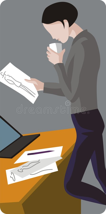 Fashion Designer Illustration stock illustration