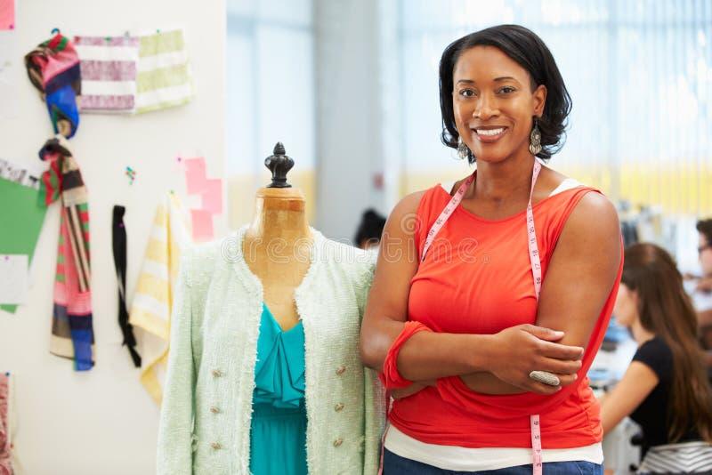 Fashion Designer In Studio stock photo