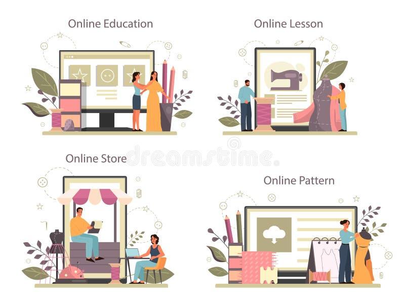 Fashion Designer Or Tailor Online Service Or Platform Set Professional Stock Vector Illustration Of Illustration Industry 180880227