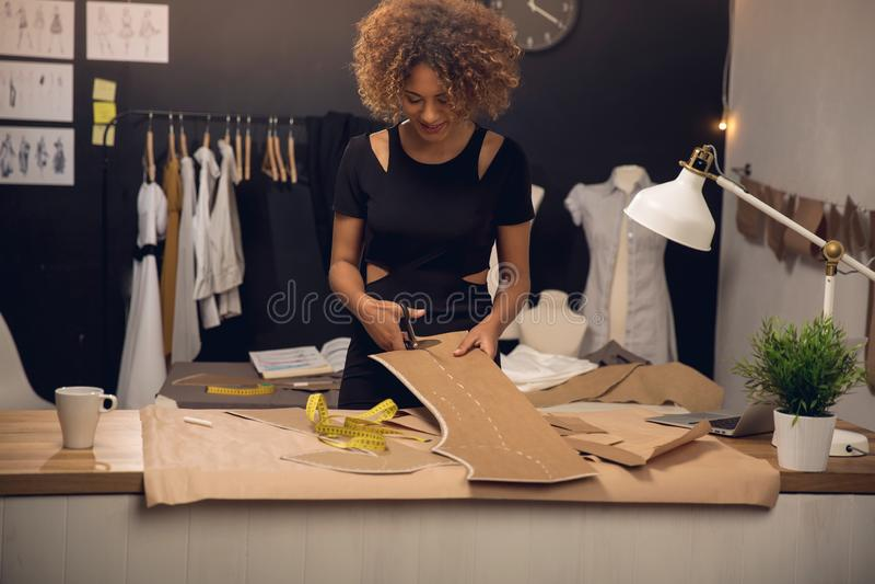 Fashion designer working royalty free stock photos