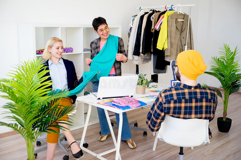 Fashion designers working royalty free stock images