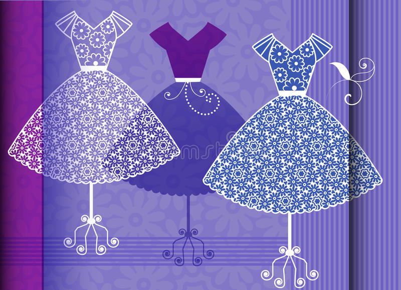 Fashion display stock illustration