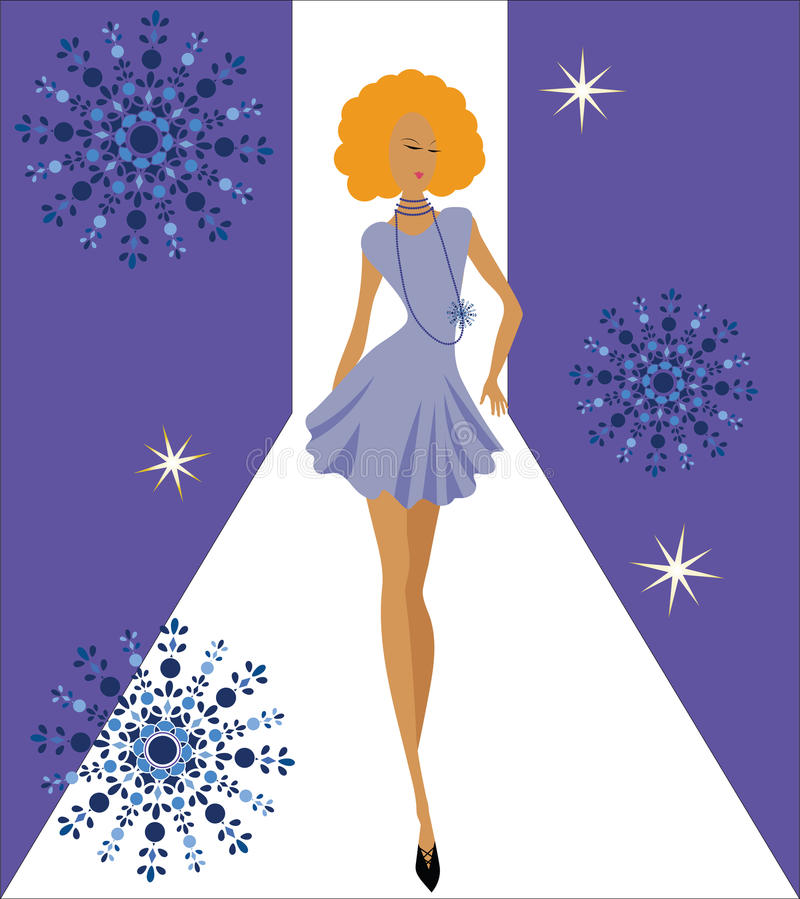 Fashion diva royalty free illustration