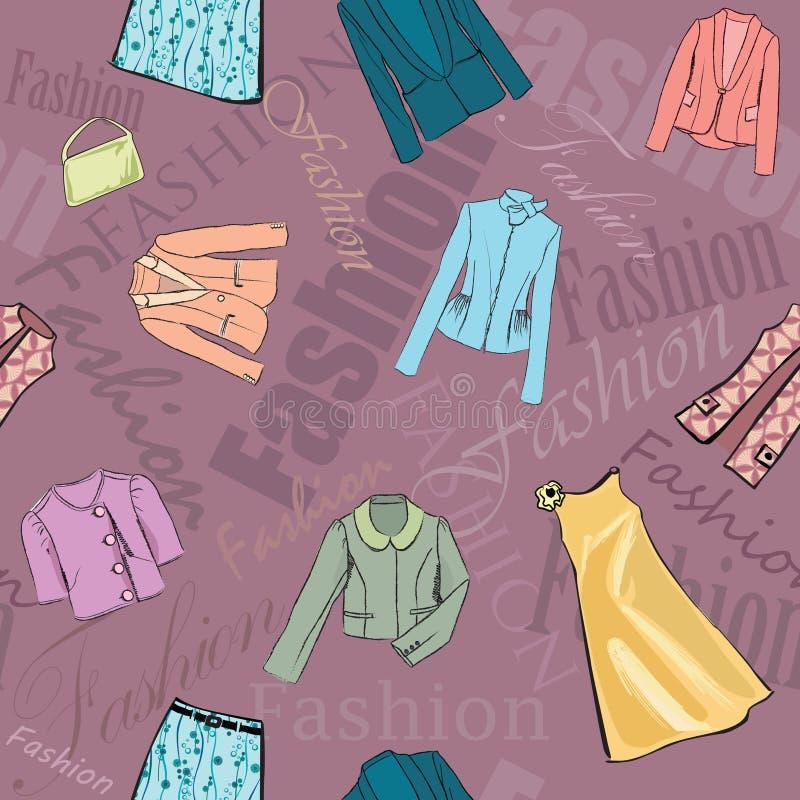 Fashion dress seamless background