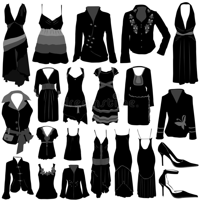 Fashion dress vector stock illustration