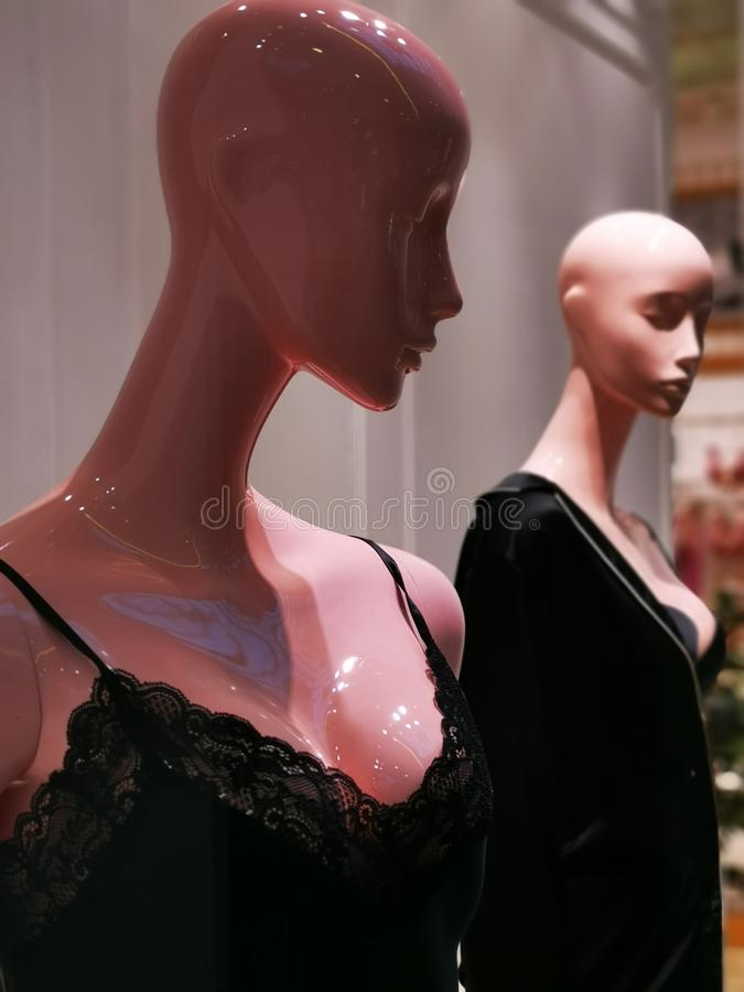 Fashion dummy sexy underwear black stock images
