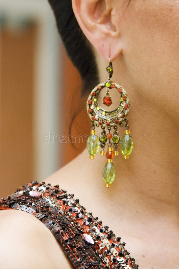 Download Fashion Earring stock image. Image of accessories, modern - 183767