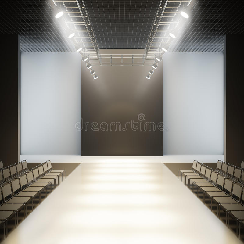 Free Fashion Empty Runway. Stock Image - 29297681