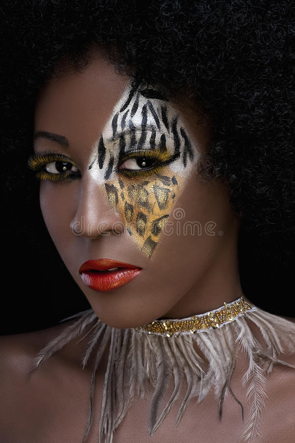Fashion face painting stock photography