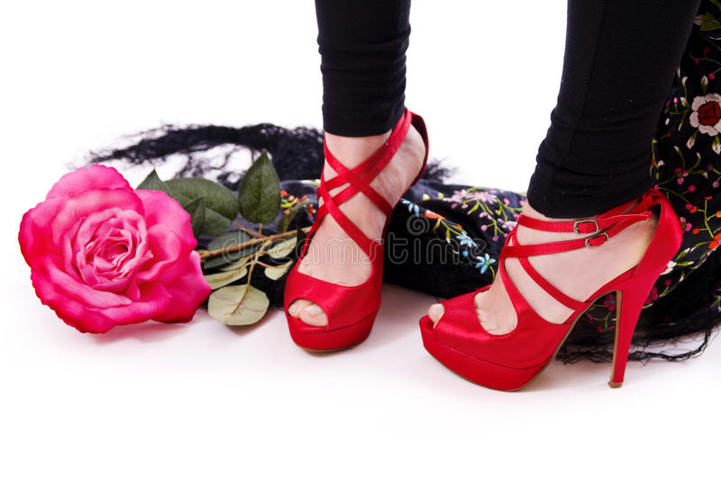 Fashion feet. royalty free stock images