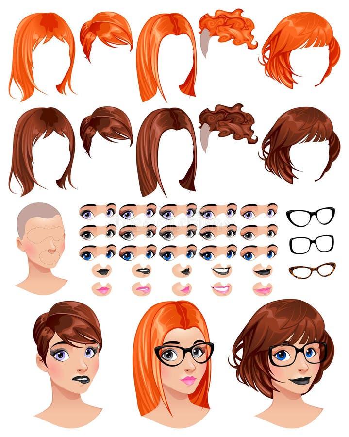 Free Fashion Female Avatars Royalty Free Stock Images - 50645619