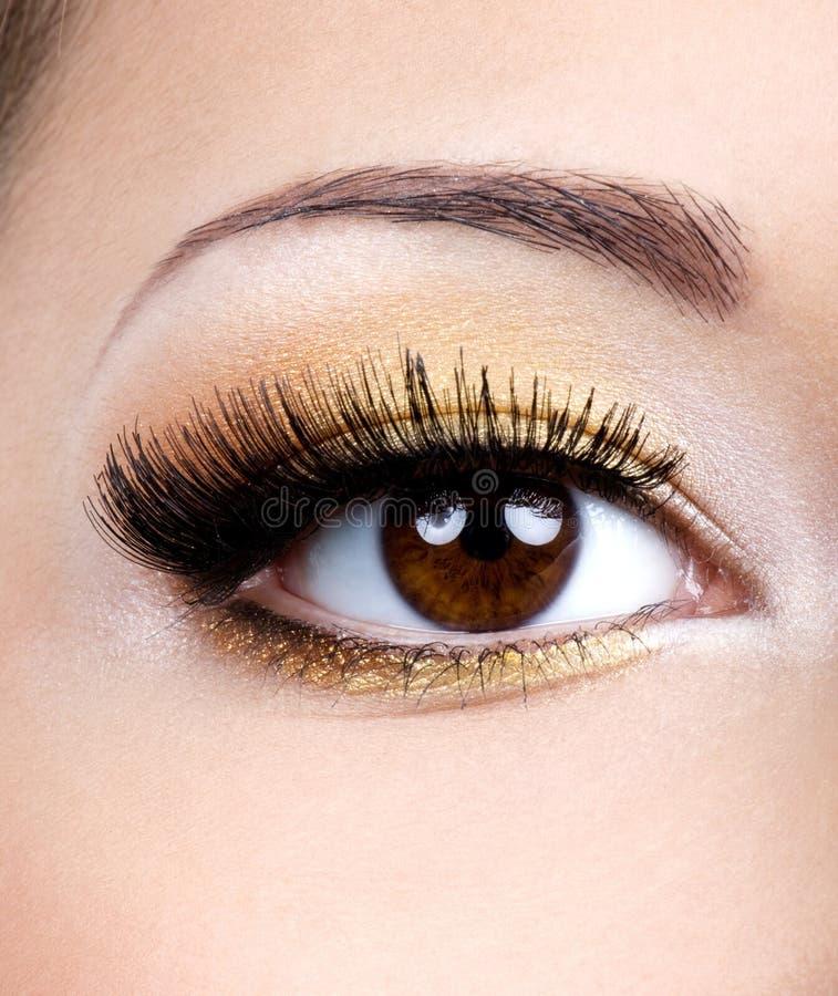 Fashion female eye makeup stock photo