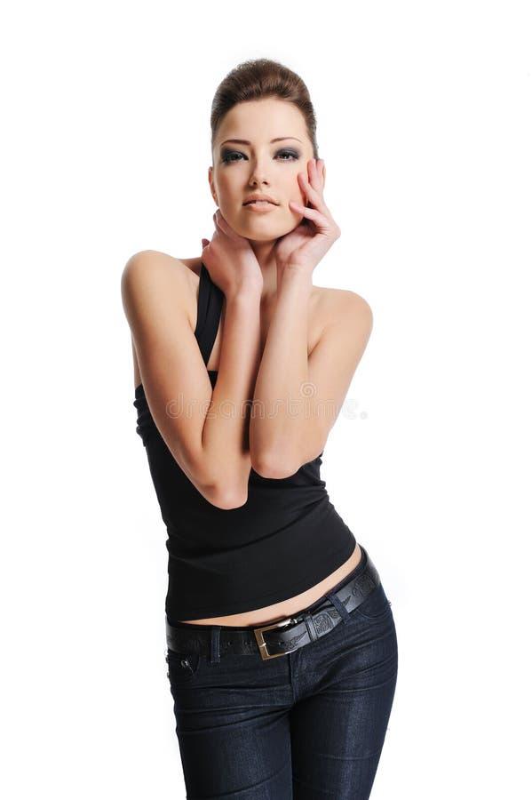 fashion female model pretty στοκ φωτογραφίες