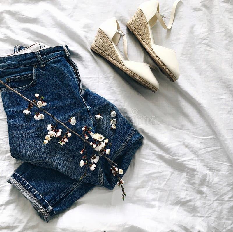 Fashion flatlay stock photo. Image of flatlay, white ...
