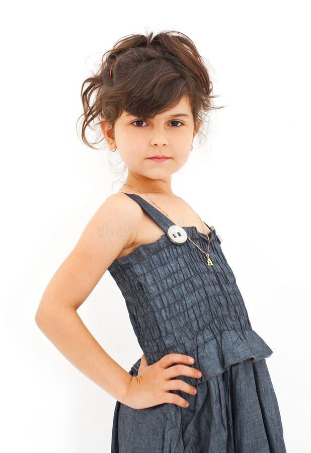 fashion flickan little arkivfoto