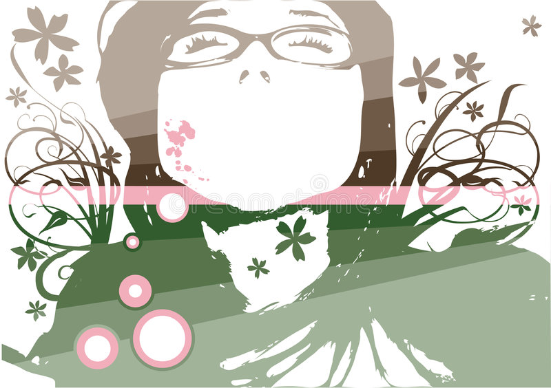 Fashion floral face royalty free stock images