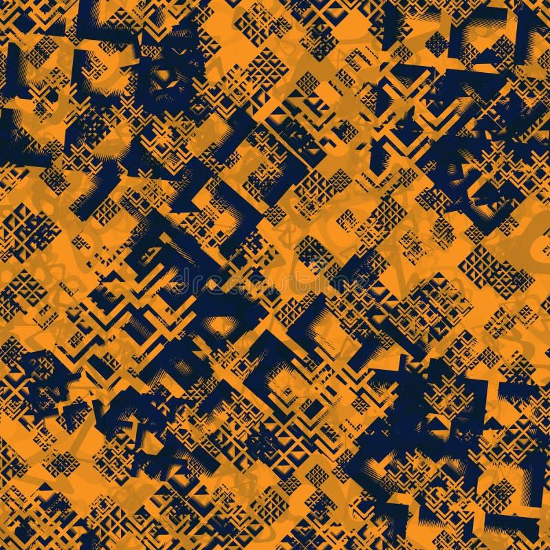 Fashion Geometric Dynamic Sport Seamless Pattern. Abstract Seamless Geometric Dynamic Sport Pattern, Fashion Urban Repeated Backdrop for Boys, Textile, Wrapping royalty free illustration