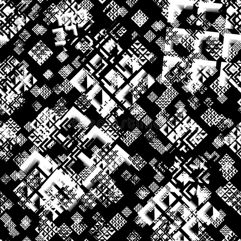 Fashion Geometric Dynamic Sport Seamless Pattern. Abstract Seamless Geometric Dynamic Sport Pattern, Fashion Urban Repeated Backdrop for Boys, Textile, Wrapping stock illustration