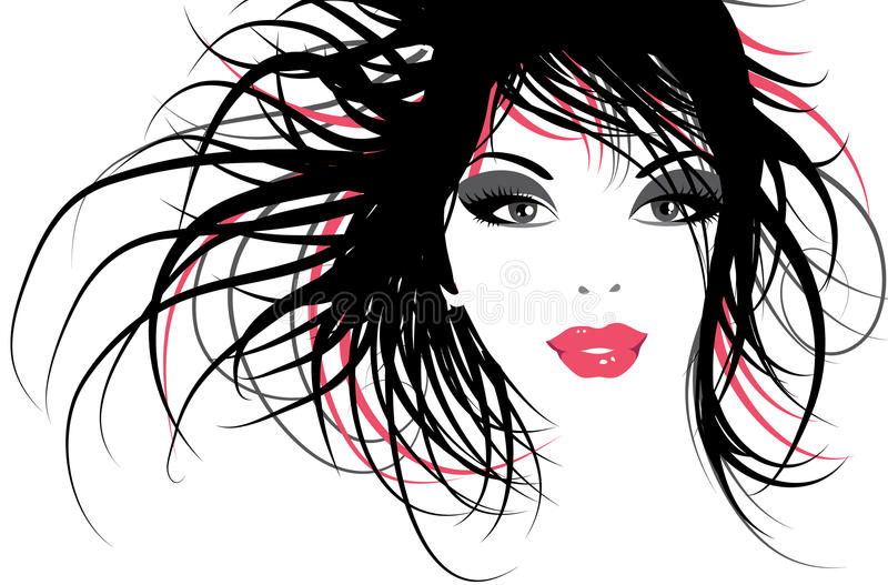 Download Fashion girl stock illustration. Illustration of floral - 12548039