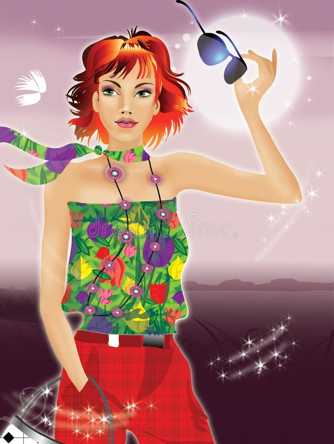 Download Fashion girl stock illustration. Illustration of clip - 14661173
