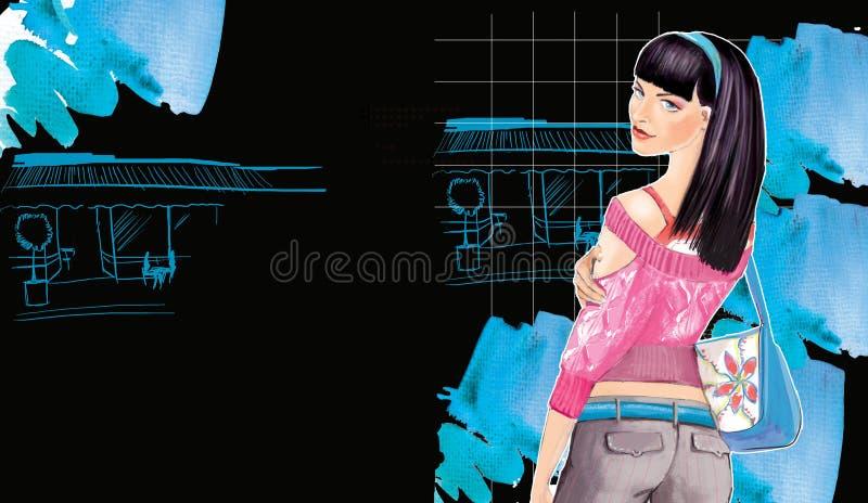Download Fashion girl stock illustration. Illustration of store - 15807112