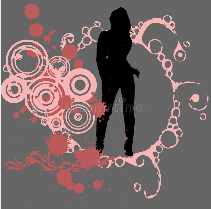 Fashion girl stock illustration