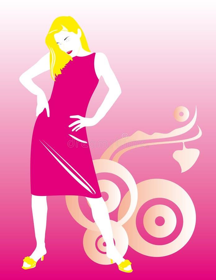 Download Fashion girl stock illustration. Illustration of blong - 3168397