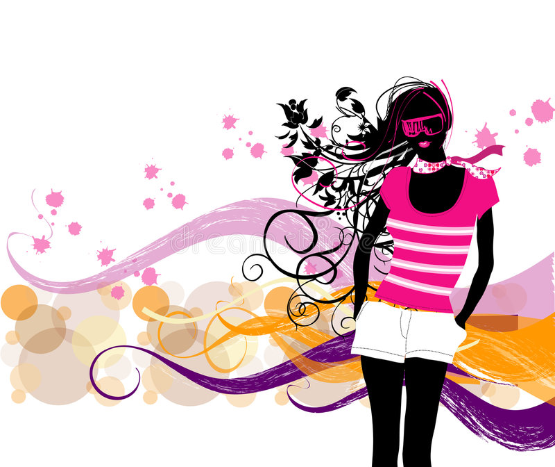 Fashion girl royalty free illustration