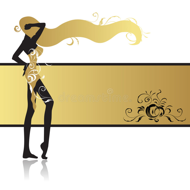 Fashion girl in dance. Vector illustration stock illustration