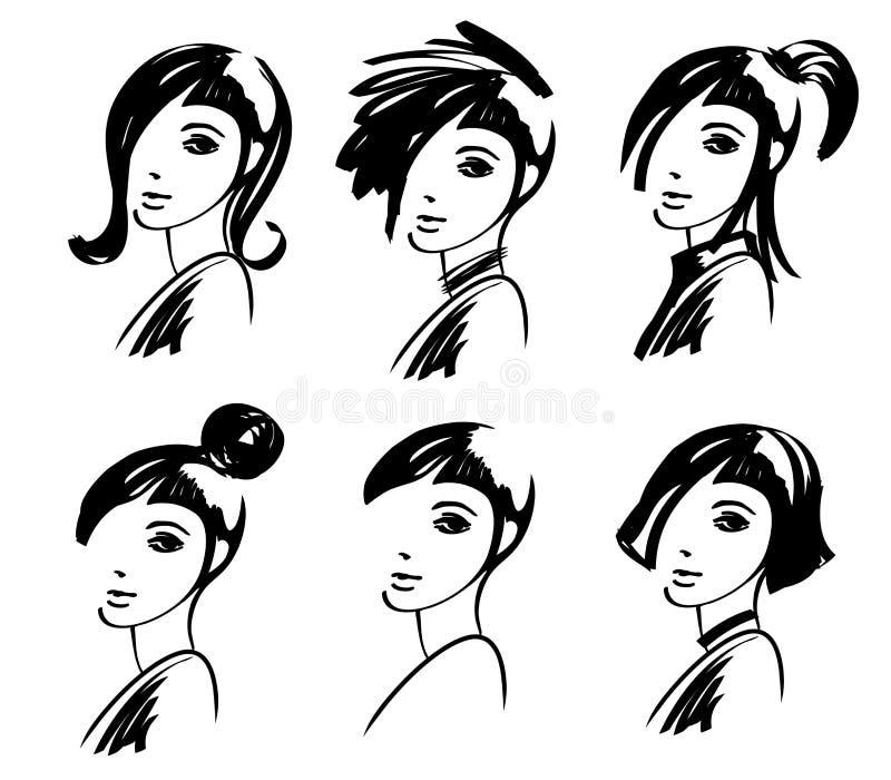 Download Fashion girl drawing stock vector. Image of model, closeup - 17696557