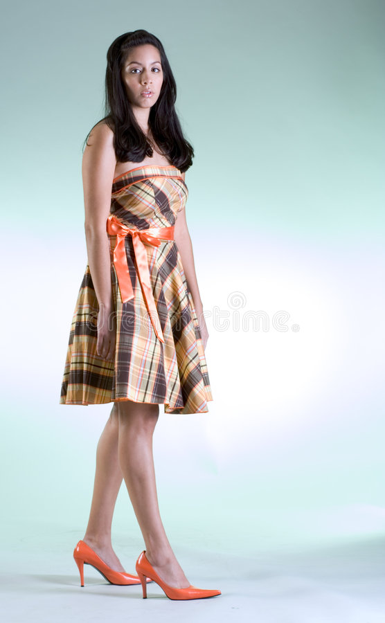 Download Fashion Girl In Orange Shoes Stock Photo - Image: 2085814