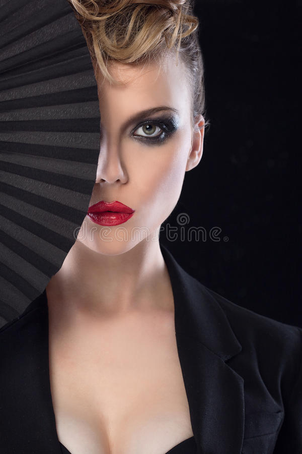 Fashion girl portrait. stock images