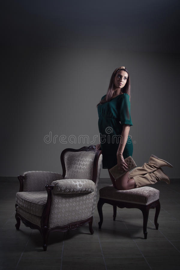Download Fashion girl posing stock photo. Image of up, indoor - 27383522