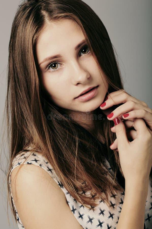 Download Fashion Girl Posing On Grey Background Royalty Free Stock Photo - Image: 36759695