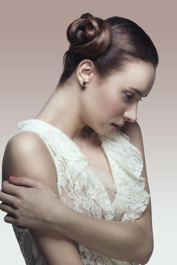 Download Fashion Girl In Romantic Pose Stock Image - Image: 31262343