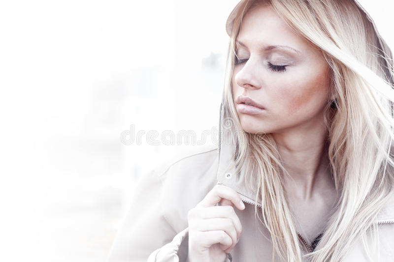 Fashion girl urban style portrait outdoor royalty free stock photos