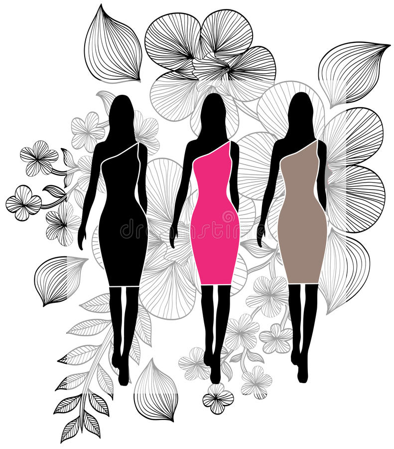 Download Fashion girls stock vector. Image of fashionable, decoration - 28656635