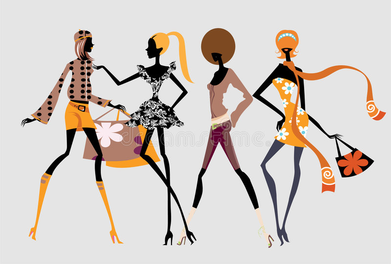 Download Fashion girls stock illustration. Illustration of slender - 4601967