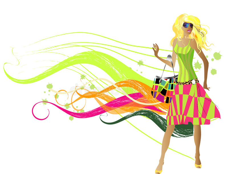 Fashion girls vector illustration