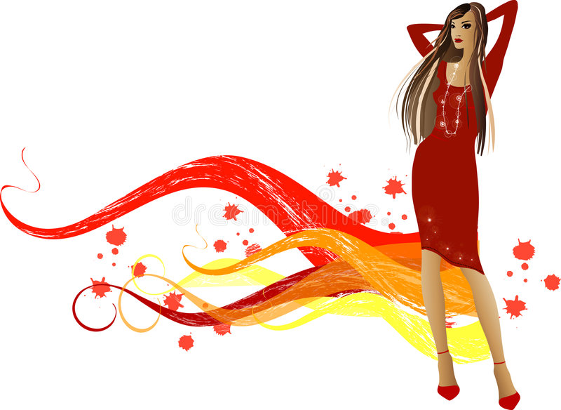 Fashion girls royalty free illustration