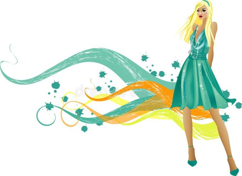 Fashion girls stock illustration